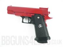 Galaxy G10 Full Metal BB Gun Pistol in red