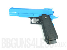 Galaxy G6 M1911 Full Metal Pistol BB Gun in blue