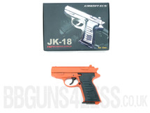 JK-18 full metal pistol BB gun in orange