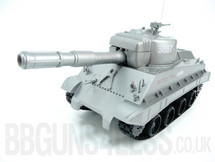 Radio Control Battle Tank in silver That shoots