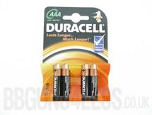 Duracell AAA Alkaline Batteries Pack of 4