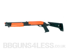 Double Eagle M56C Tri-Shot pump action shotgun in Orange/Black