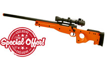 Double Eagle M57 bb gun Spring Sniper Rifle with Scope in Orange