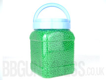 Ultrasonic bb pellets 10000 X 0.12 green in a tub