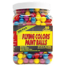 Splatmatic Flying Colours Paintballs 500 x .50 Calibre in Tub