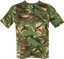 Adult Size T-shirt with British dpm camo