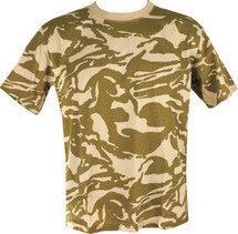 Adult Size T-shirt with British Desert camo
