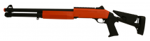 Double Eagle M56DL TRI-SHOT Pump Action Shotgun in Orange/Black
