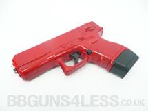 Galaxy G16 Full Metal Pistol BB Gun in Red