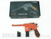 Galaxy G12 BB Gun Mauser Replica pistol in orange
