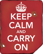 Keep calm and carry on wooden sign