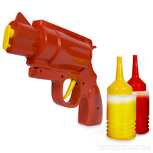 Condiment Gun red or brown sauce dispenser