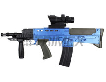 L86A2 SA80 replica bb gun rifle in blue
