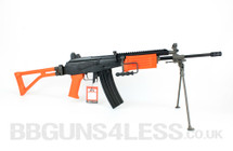 ICS-94 Electric Airsoft BB gun with bipod in Orange/Black