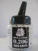 Bulldog bb pellets 1000 x 0.20g Bottle in white