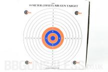SMK BB Gun Card Target - 10m (33ft) 100pc 17cm