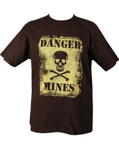 Danger Mines T shirt in Black