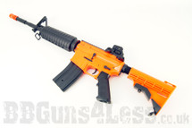 JG R21 M4 fully auto in Two Tone orange with tactical stock
