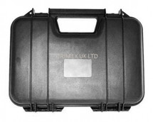 src p103 strong  lockable airsoft black hard pistol case