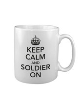 KEEP CALM and SOLDIER ON MUG