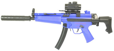 Cyma CM 023 Airsoft Electric Spring with Adjustable Red Dot sight Gun in Blue