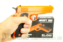 BL-G25 A Full Metal Spring Pistol in Orange