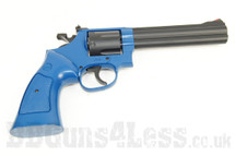 UHC Python Revolver spring powered 6 inch barrel Pistol in blue
