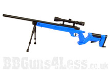 Well MB05 G-22 Sniper rifle in blue with bipod and scope
