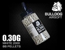 Bulldog bb pellets in white 0.30G x 2000 pc in speed loader