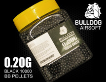 bulldog bb pellets 10000 x 0.20g tub in black