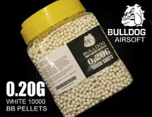 bulldog bb pellets 10000 x 0.20g tub in white