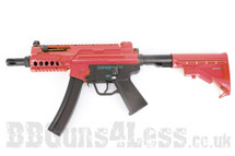 Galaxy G.5m Tactical Full Metal Gearbox AEG Rifle in Two Tone red