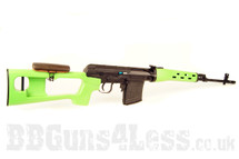 A&K Russian SVD Dragunov Airsoft Sniper Rifle in two tone