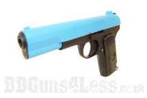 SRC SR 33 Full Metal Gas Blow Back Pistol Full metal in blue