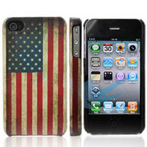Vintage Iphone case in usa stars and stripes design