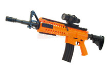 Well D2810 M4 fully auto Airsoft gun in orange