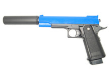 Galaxy G6A M1911 Full Metal Pistol in blue