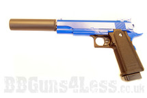 Galaxy G6A M1911 Full Metal Pistol in blue