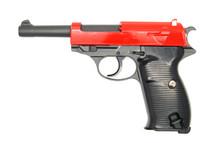 Galaxy G21 Full Metal Walther P38 bbgun in red