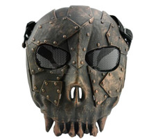 Airsoft Fantasy Warrior Skull Mask in Bronze Polymer