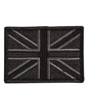 Tactical Patch Fabric Union Jack Patch in Black