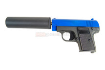 Galaxy G9A Full Metal Pistol BB Gun in blue