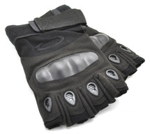 Fingerless Gloves with knuckle protection - black