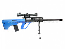 JG AU 5G Steyr AUG Replica With scope and bipod in blue