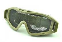 US Army Style Big Mesh Anti Fog Goggles in green