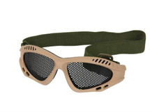 US Army Style Small Mesh Anti Fog Goggles in Tan