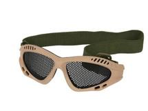 US Army Style Small Mesh Anti Fog Goggles in Tan