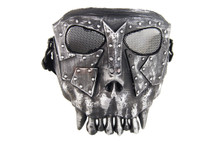 Airsoft Fantasy Warrior Skull Mask in Green and black Polymer