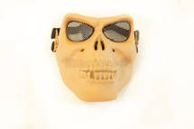 Airsoft Skull Style face mask in tan