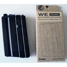 WE Gas magazine for M4 M16 SCAR PDW and L85 Open bolt 20rd